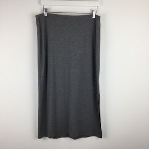 OLD NAVY large solid gray stretchy MAXI SKIRT